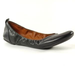 Lucky Brand Black Leather Ballet Flats Size 11